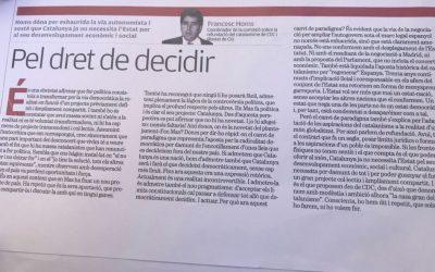 Francesc Homs en el 2007 sobre el derecho a decidir