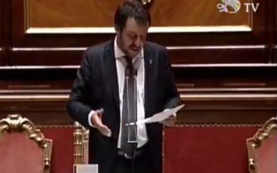 Salvini condena la hipocresía Francesa