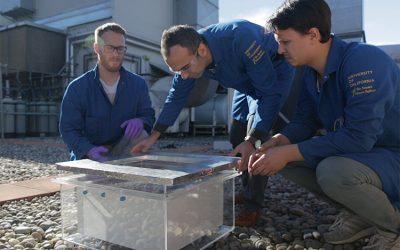 En ensayos en el desierto, la cosechadora de agua de última generación entrega agua dulce del aire